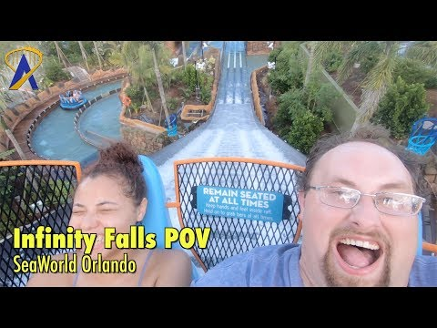 World's Tallest Drop - Infinity Falls 4K 60fps POV at SeaWorld Orlando