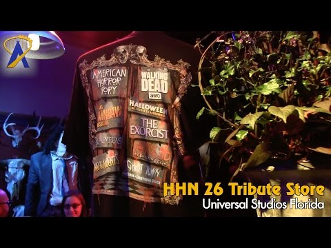 Tour the Halloween Horror Nights 26 tribute store at Universal Studios Florida