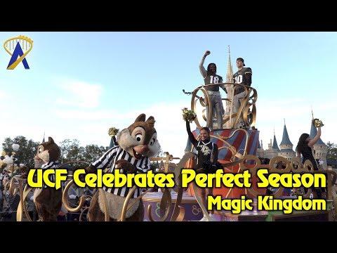 UCF Knights celebrate undefeated season with parade at Disney's Magic Kingdom