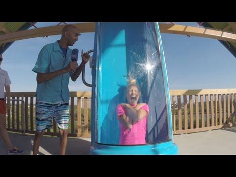Take the plunge on Ihu's Breakaway Falls at Aquatica Orlando