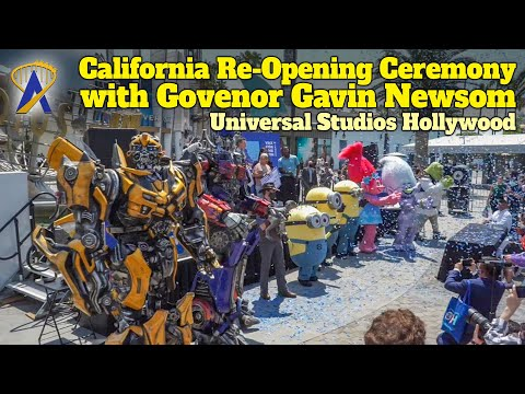 California Re-Opening Ceremony with Governor Gavin Newson at Universal Studios Hollywood