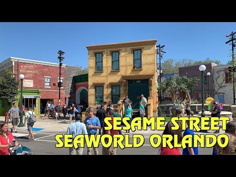 Overview of Sesame Street at SeaWorld Orlando