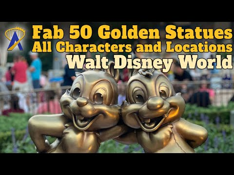 Fab 50 Golden Character Statues – All Characters and Locations – Walt Disney World