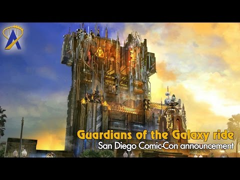 Guardians of the Galaxy ride announcement from San Diego Comic-Con 2016