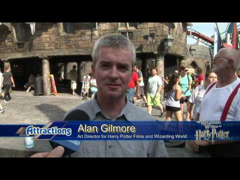 Opening day interview with Harry Potter Art Director Alan Gilmore in the Wizarding World