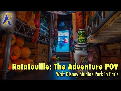 Ratatouille: L'Aventure Totalement Toquée de Rémy low-light POV at Walt Disney Studios Park in Paris