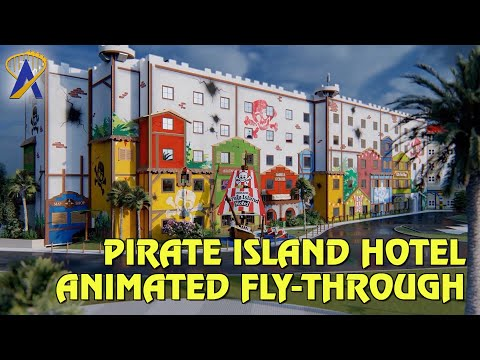 Pirate Island Hotel Animated Fly-Through - Opening April 17, 2020 at Legoland Florida