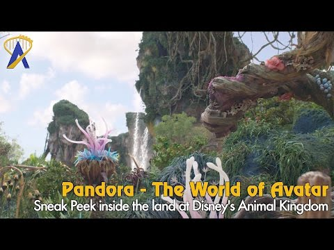 The mountains and landscape inside Pandora - The World of Avatar at Animal Kingdom