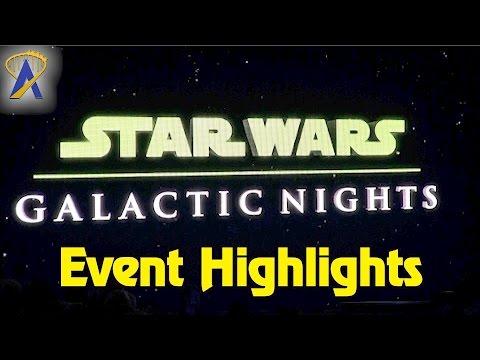 Star Wars Galactic Nights event highlights at Disney's Hollywood Studios