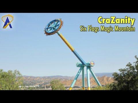 World's Tallest Pendulum Ride - CraZanity at Six Flags Magic Mountain
