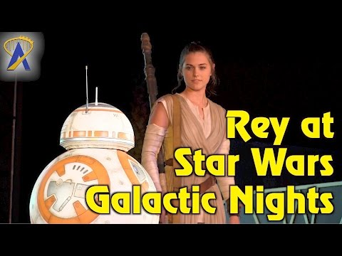DEBUT: Rey joins finale of A Galaxy Far, Far Away during Star Wars Galactic Nights event
