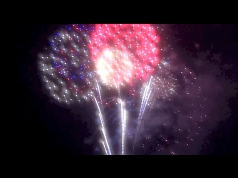 Legoland Florida Red Brick and Boom pirate fireworks show with special glasses