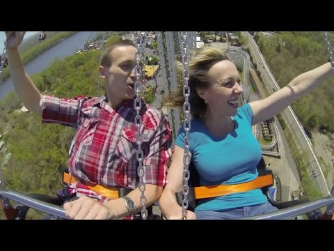 World's tallest swing ride opens at Six Flags New England SkyScreamer