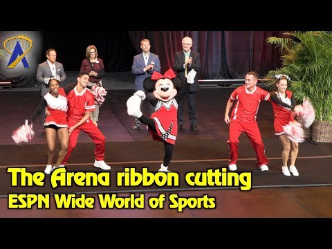 Minnie Mouse helps open The Arena at ESPN Wide World of Sports Complex