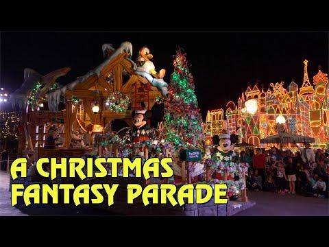 A Christmas Fantasy Parade at Disneyland Park