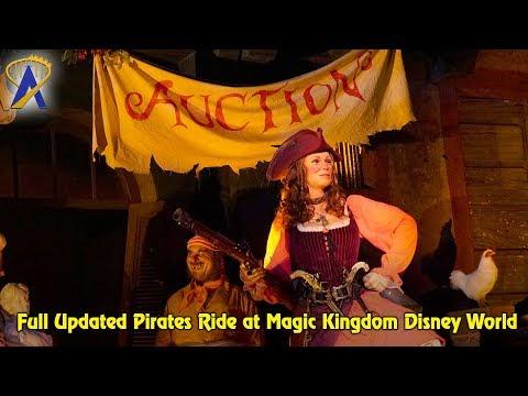 Full Updated Pirates Ride at Magic Kingdom Disney World