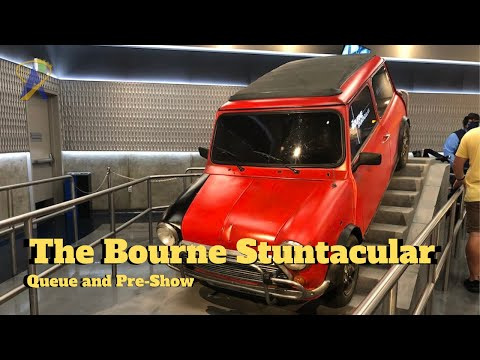 The Bourne Stuntacular Queue and Pre-Show at Universal Studios Florida