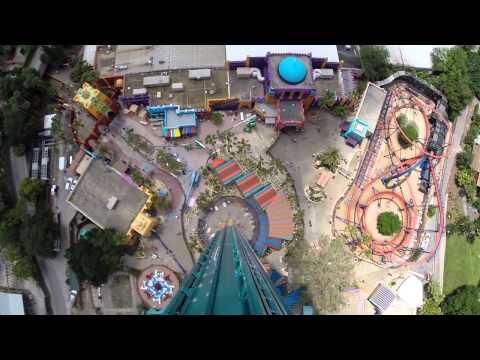 Falcon's Fury POV Drop ride-through at Busch Gardens Tampa