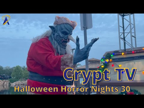 Crypt TV Scare Zone at Halloween Horror Nights 2021