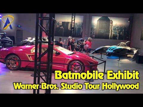 Batman Batmobile exhibit inside Warner Bros. Studio Tour Hollywood