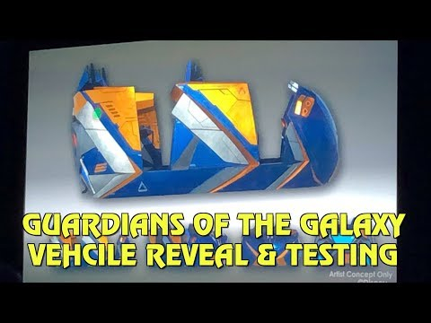 Guardians of the Galaxy roller coaster vehicle concept reveal | IAAPA 2018