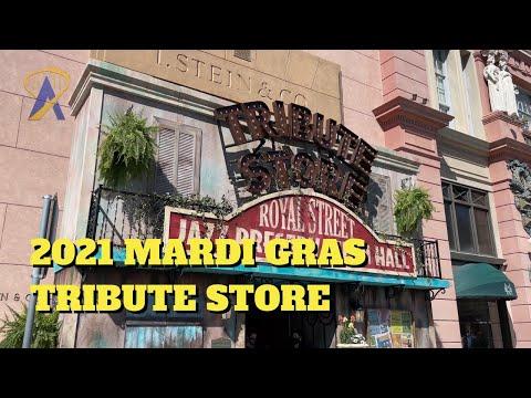 2021 Mardi Gras Tribute Store Walkthrough at Universal Studios Florida