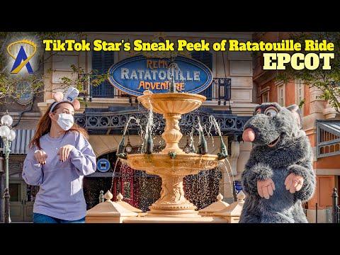 TikTok Star Emily Jacobsen gets sneak peek of Remy's Ratatouille Adventure