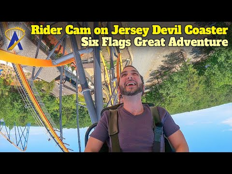 Jersey Devil Rider Cam at Six Flags Great Adventure