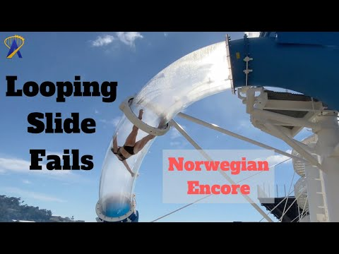 Looping Slide Fails on the Norwegian Encore Cruise Ship