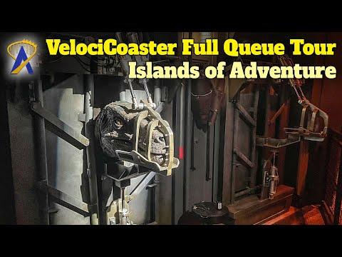 Jurassic World VelociCoaster Queue Tour