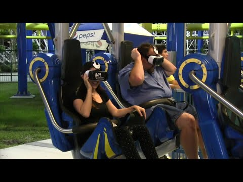 VR Coaster demo at Fun Spot America from IAAPA 2015