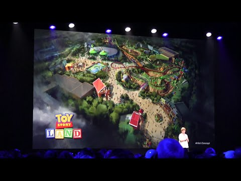 Toy Story Land announcement at D23 Expo 2015 - coming to Disney's Hollywood Studios