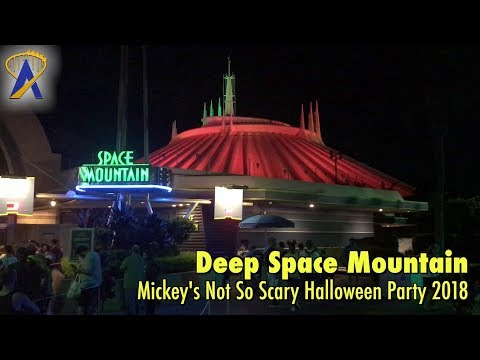 Deep Space Mountain Lights Out for Mickey's Not So Scary Halloween Party