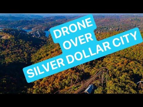 Silver Dollar City - BY DRONE - DJI MAVIC Air 2 exploring Silver Dollar City