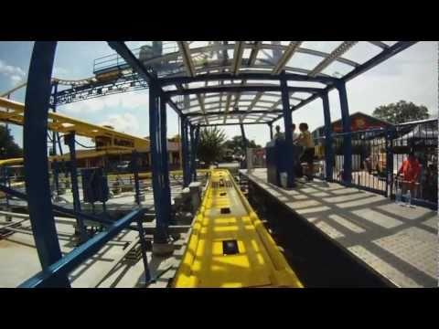 Power Trip Coaster ride-through at Fun Spot America in Kissimmee