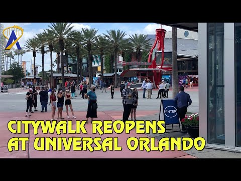 Universal CityWalk Reopens with Limited Operations at Universal Orlando Resort
