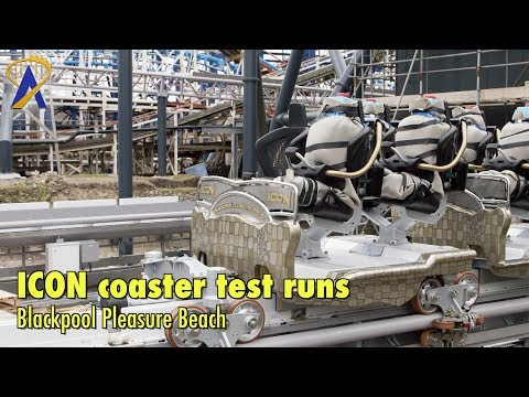 First test runs for ICON roller coaster at Blackpool Pleasure Beach