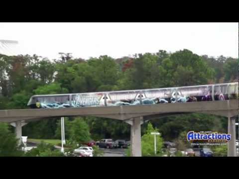 'The Avengers' monorail at Walt Disney World in promotion of the Marvel movie