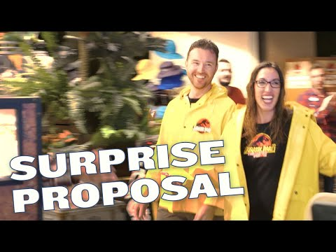 Jurassic Park - The Ride Surprise Marriage Proposal
