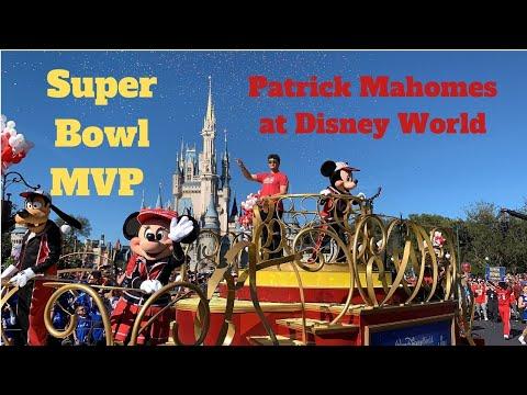 Kansas City Chiefs Quarterback Patrick Mahomes Celebrate MVP Super Bowl LIII Victory at Disney World