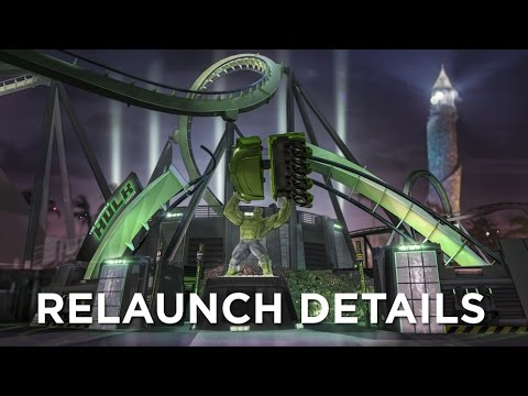 The Incredible Hulk Coaster Relaunch Details
