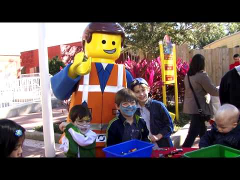 Meet The Lego Movie characters at Legoland Florida - Emmet and Wyldstyle