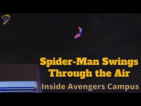 Spider-Man Swings Over Avengers Campus at Disneyland Resort