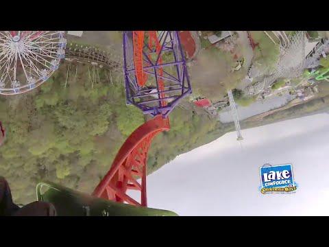 Phobia Phear Coaster front seat POV at Lake Compounce