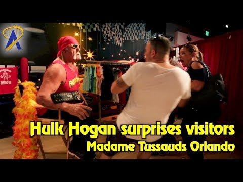 Hulk Hogan surprises visitors at Madame Tussauds Orlando