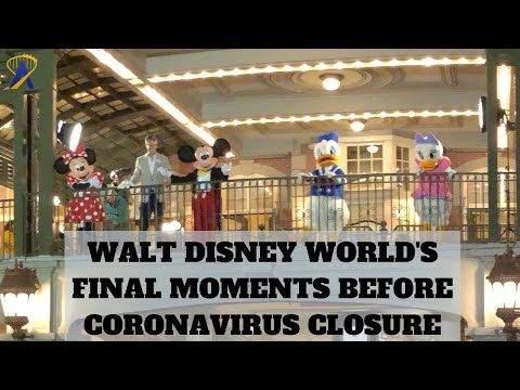 Characters and Cast Say Goodbye as Walt Disney World Closes for Coronavirus