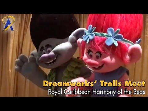Dreamworks Trolls meet guests on Royal Caribbean Harmony of the Seas