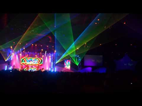 Laser and light show at WE Wash, a private party at Epcot for Gay Days