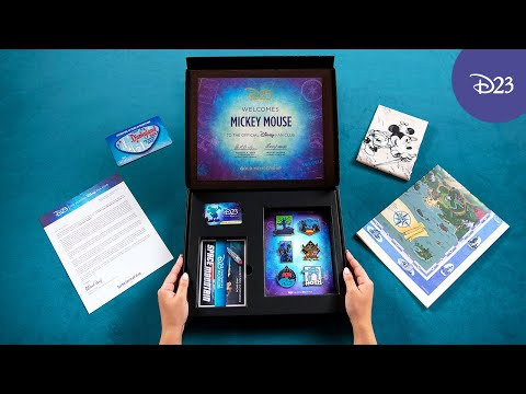 Unboxing a MUST-HAVE Disney Gift—the D23 Fantastic Worlds Adventure Kit!