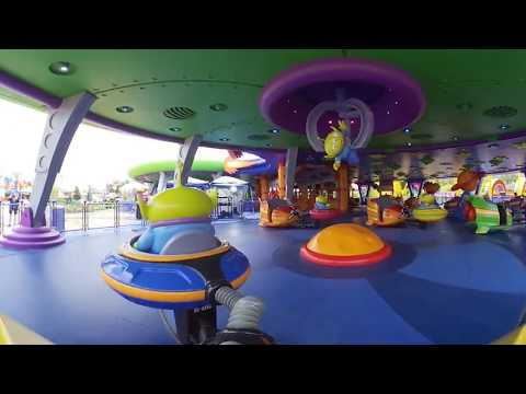 Alien Swirling Saucers 4K 360° POV in Toy Story Land at Disney's Hollywood Studios